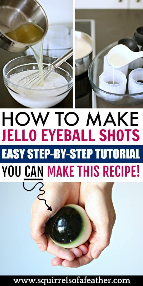 An infographic on making jello eyeballs with alcohol