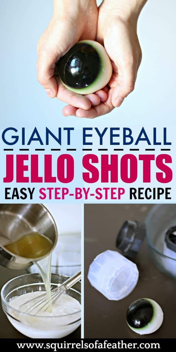 A step-by-step recipe for eyeball jello shots.