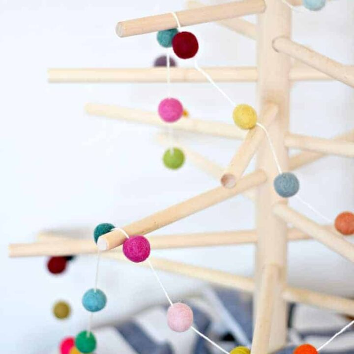 How to Make a Colorful Felt Ball Garland in 15 Minutes (w/Video)