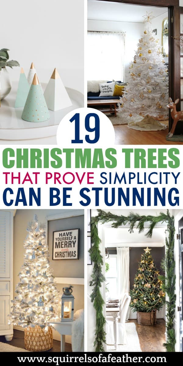Four modern Christmas trees in different styles