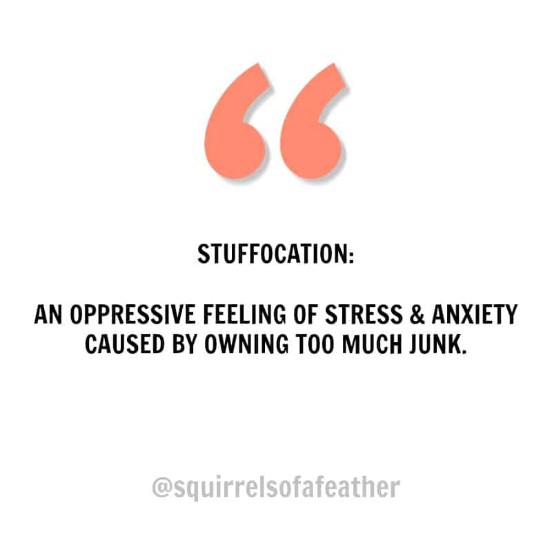 Instagram quote about stuffocation