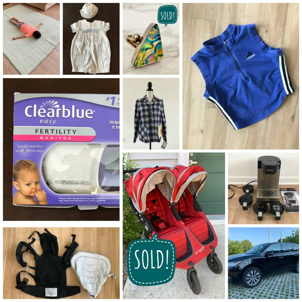 A collage of items that show eBay seller selling clutter