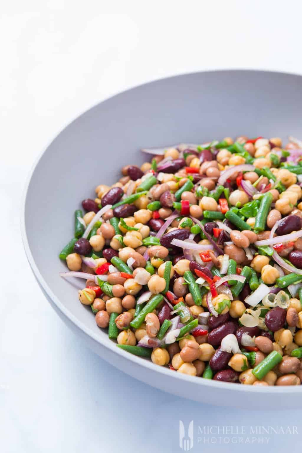 A salad made with 4 kinds of beans