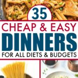 A list of dinners you can make on a budget