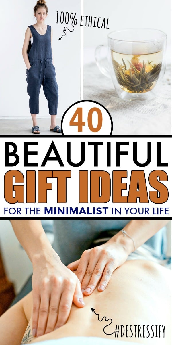 A group of 3 gift ideas for minimalists