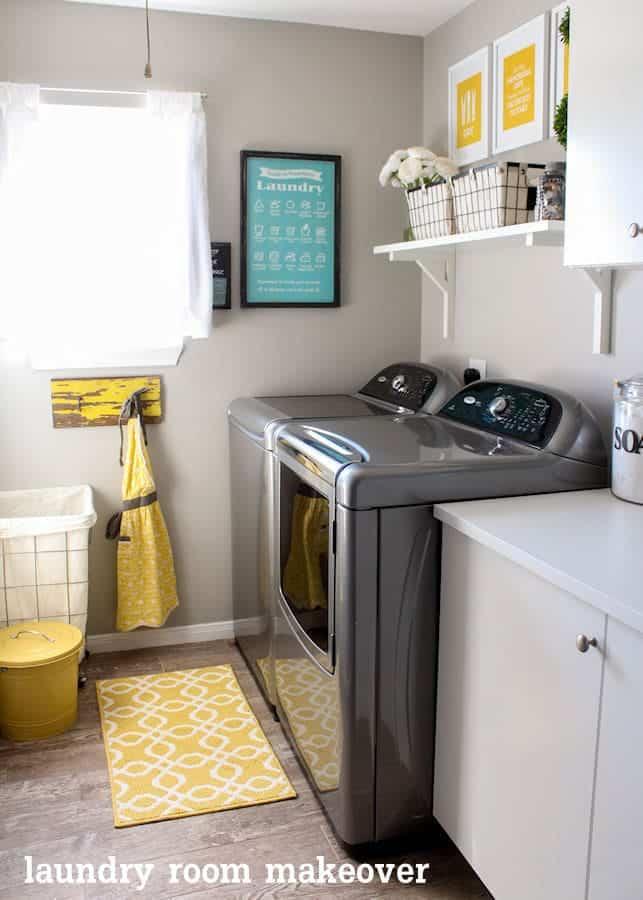 A bright laundry room