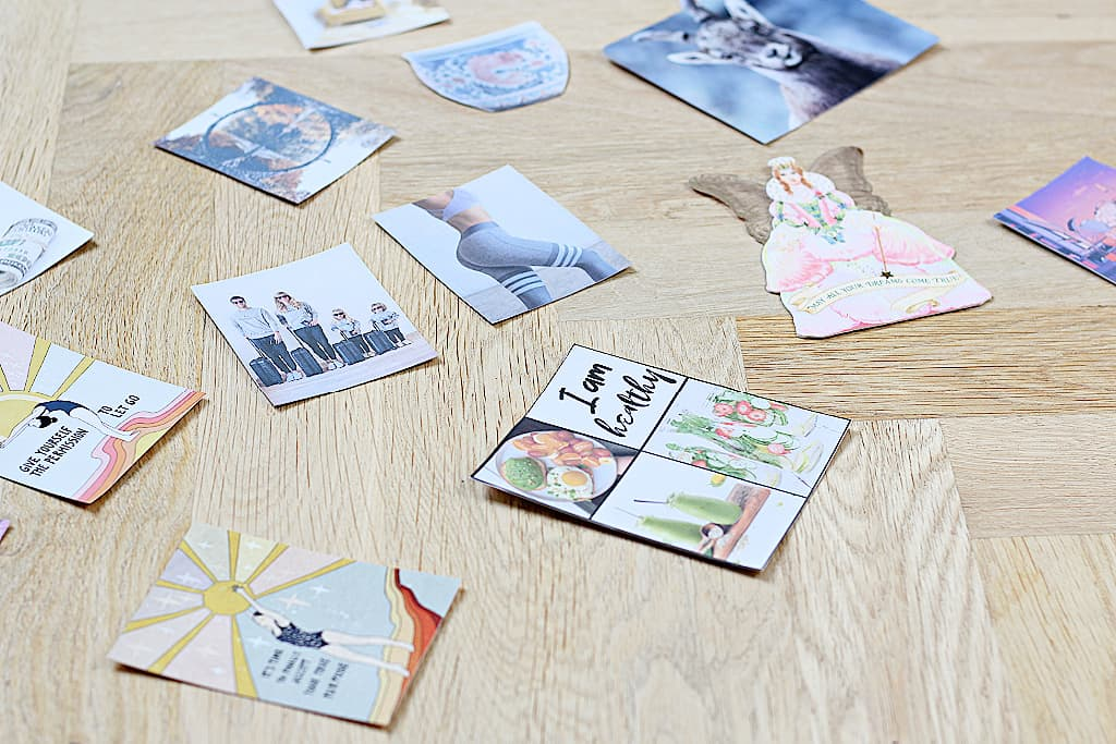 A collection of ideas for vision board