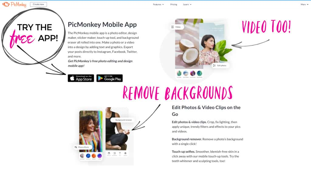A free online app for vision boards