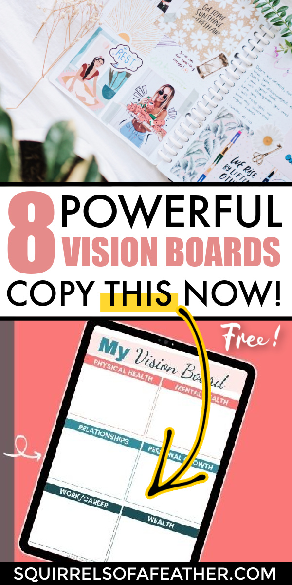 Two examples of vision boards that work