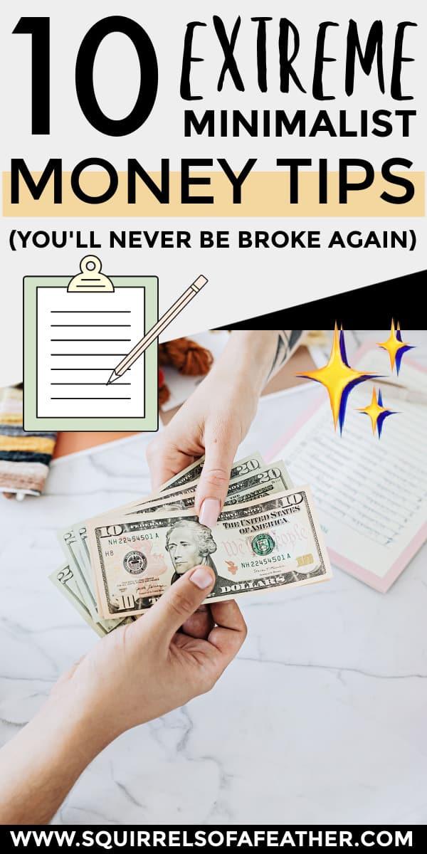 A financial minimalist couple budgeting