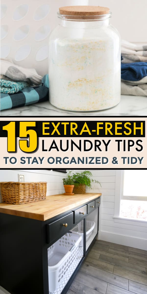 Two clever laundry organization ideas that are DIY