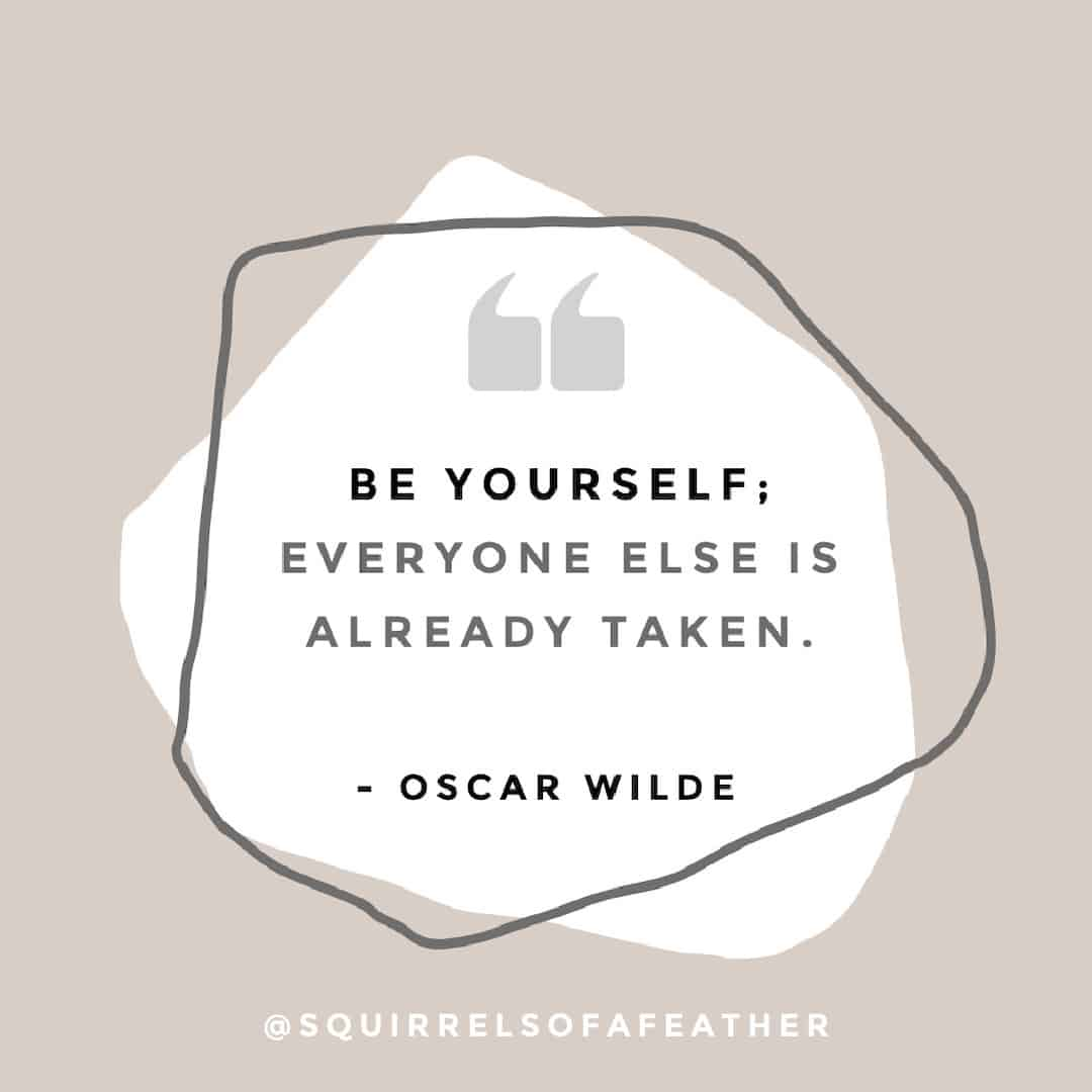 An Oscar Wilde be yourself quote for Instgram