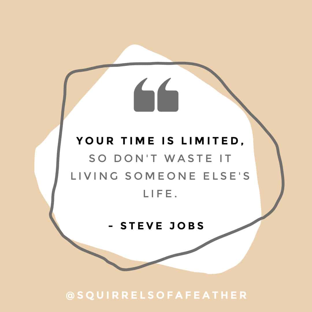 A Steve Jobs quote about how to be yourself