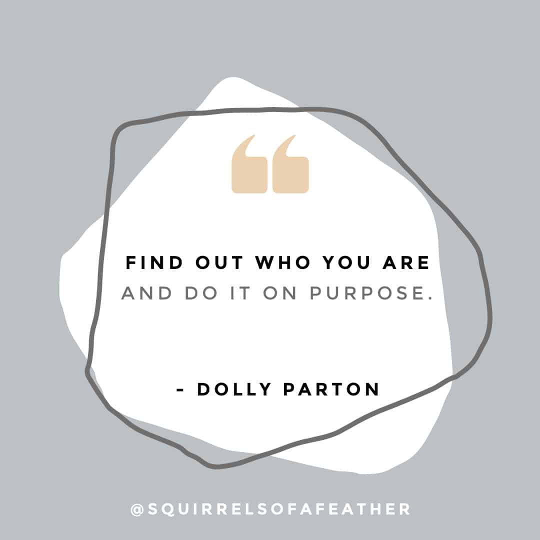Be yourself Instagram quote from Dolly Parton