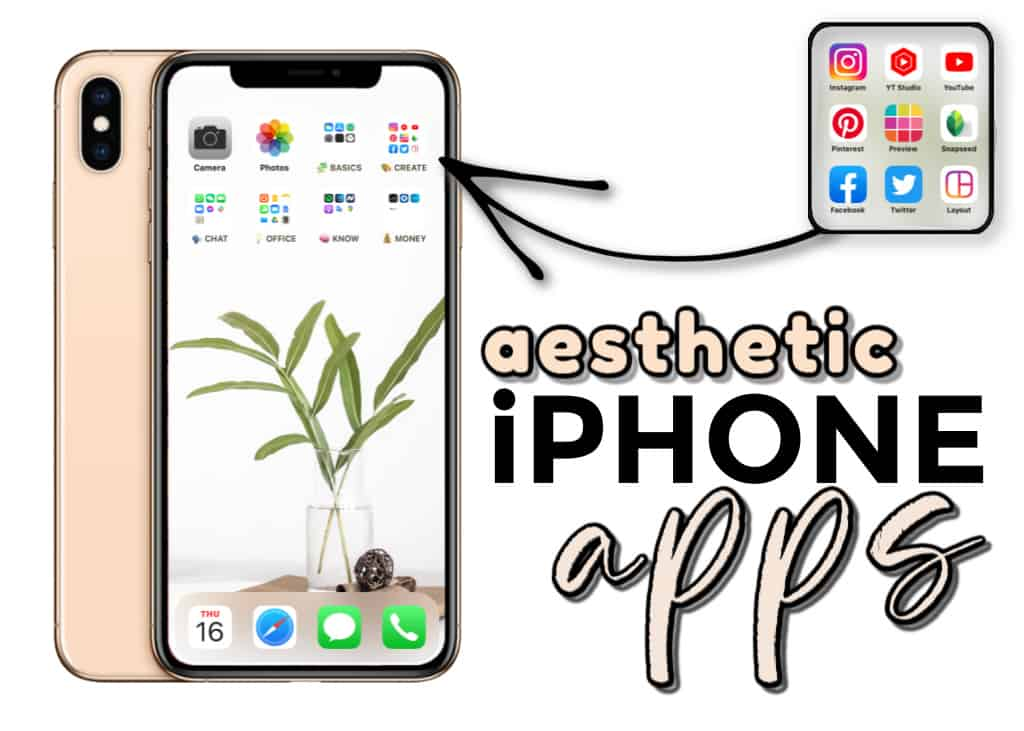A minimalist phone with aesthetic organized apps